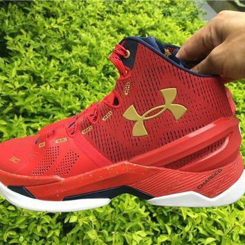 LMFUX5 Under Armour Curry 2 Floor General 1259007-601 Basketball shoes