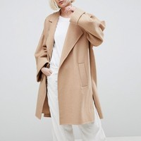 ASOS DESIGN coat with seam detail at asos.com