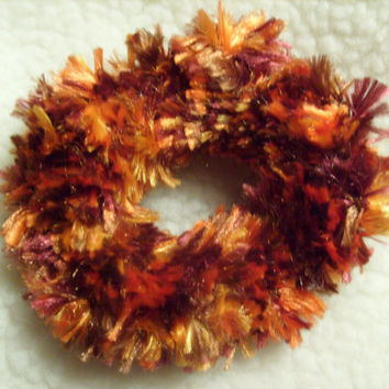 Crochet Hair Scrunchie or Candle Holder Decoration