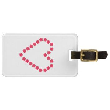 Love Luggage Tag w/ leather strap