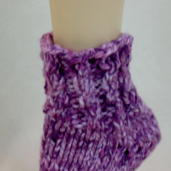 Extra Thick Slipper Socks - Pink U0026 Purple From AllThingsTangled