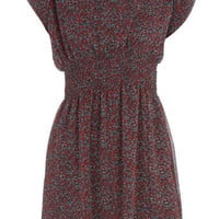 Red ditsy print dress - View All - New In - Dorothy Perkins