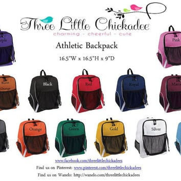 Athletic Sports Backpack 13 Colors FREE Personalization School Backpack Basketball Volleyball Soccer Gymnastics Cheer Dance Bag Back Pack