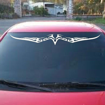 Tribal Hawk Windshield Visor Vinyl Decal Design Graffic Sticker for car or truck