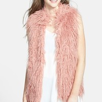 Hot & Delicious Faux Fur Vest (Juniors) | Nordstrom