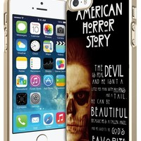 American Horror Story Quotes Iphone 4/4s 5 5c 6 6plus Case (iphone 5c white)