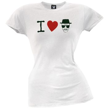 Breaking Bad - I Heart Heisenberg Juniors T-Shirt