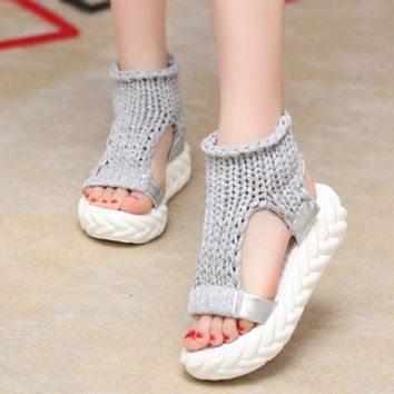 Women Sandals Summer shoes on the platform flip flops gladiator Bottom footwear heeled