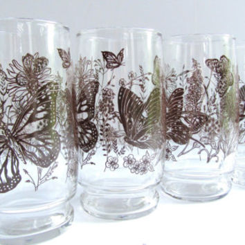Butterfly Glassware 1970 Style Kitchen