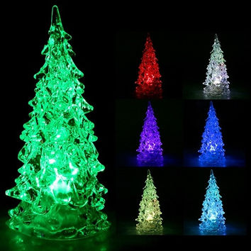 Christmas Crystal Color Changing LED Christmas Tree Decoration Light Night Light = 1945689604