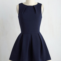 Luck Be a Lady Dress in Navy Contrast | Mod Retro Vintage Dresses | ModCloth.com