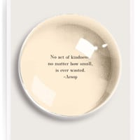 No Act Of Kindness French Crystal Dome Paperweight