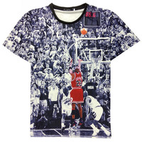 Basketball Print Short Sleeve T-Shirt