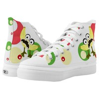 Banana monster fruit illustration printed shoes