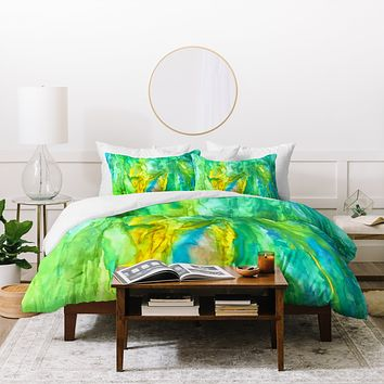 Rosie Brown Watercolor Cascade Duvet Cover