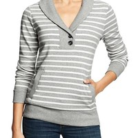 Banana Republic Womens Factory Stripe Luxe Pullover Size XS - Heather gray stripe
