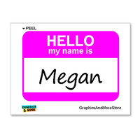 Megan Hello My Name Is Sticker