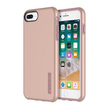 LMFGQ6 iPhone 8 Plus Case, iPhone 7 Plus Case, Incipio Premium DualPro Shockproof Hard Shell Hybrid Rugged Dual Layer Protective Outer Shell Shock and Impact Absorption Cover (5.5 Inch)- Iridescent Rose Gold