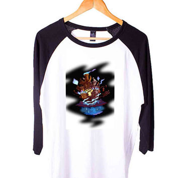 All Disney Heroes Stained Glass Cats 3D Short Sleeve Raglan - White Red - White Blue - White Black XS, S, M, L, XL, AND 2XL*AD*
