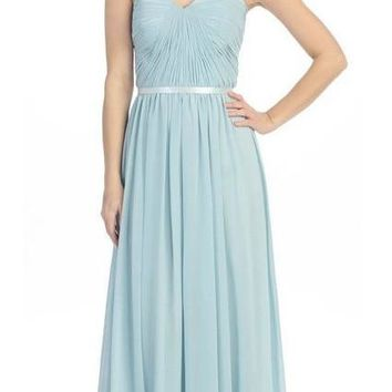 Eureka Fashion - 2800 Strapless Shirred Bodice A-Line Gown