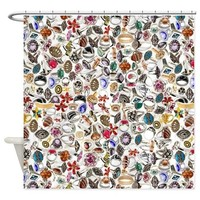rings jewelry 2 Shower Curtain