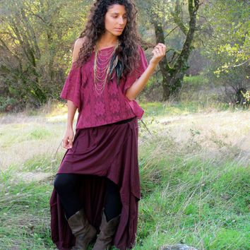 Oversized Lace Gypsy Top - Off The Shoulder Poncho - Bohemian Princess