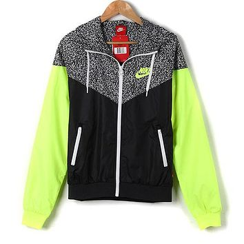 Women Zip Hooded Sweatshirt Jacket Sport Cardigan Coat Windbreaker Sportswear