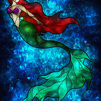 The Mermaids Song Art Print by Mandie Manzano