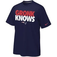 Nike New England Patriots Gronk Knows T-Shirt - Navy Blue