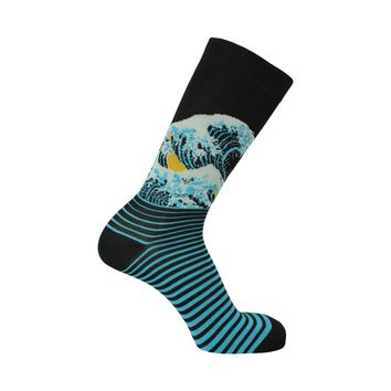 The Wave Crew Socks in Black