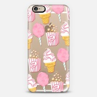 Cute Summer Ice Cream Popcorn Candy Floss Vintage Fairground Pattern Rachillustrates Rachel Corcoran iPhone 6 case by Rachel Corcoran | Casetify