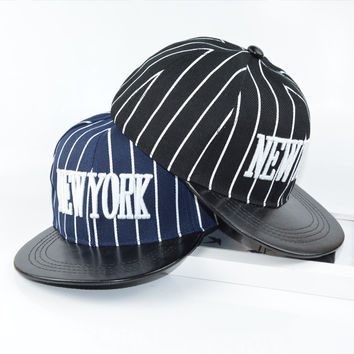 Autumn Korean Children Baseball Cap Hip-hop Stripes Hats [4989707396]