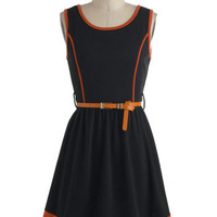 Anise and Orange Dress | Mod Retro Vintage Dresses | ModCloth.com