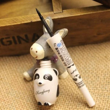Cute Panda Waterproof Makeup Cosmetic Black Liquid Smooth Eye Liner Eyeliner Pen On Sale