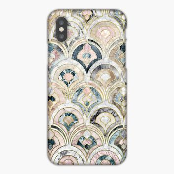 Art Deco Marble Tiles In Soft Pastels iPhone 7 Case