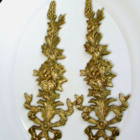 Art Nouveau Wall Hangings Sconces Cast Metal Brass Hollywood Regency Collectible Gift Item 2039