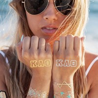 Kappa Alpha Theta Tattoo Set