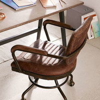 Foster Leather Desk Chair   Urban Outfitters