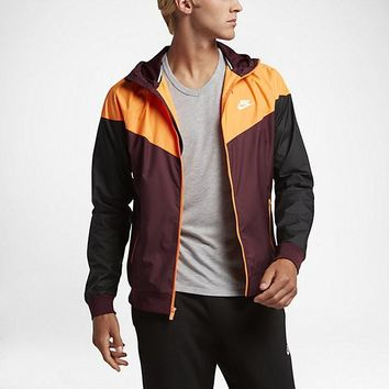 KUYOU Nike Windrunner Jacket (NIght Maroon/Bright Citrus/Black)