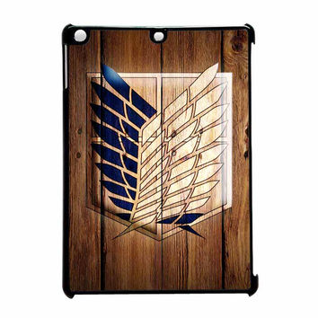 Attack On Titan Legion Logo Wood iPad Air Case