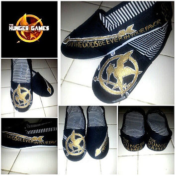 Custom Shoes , The Hunger Games, Hand Painted