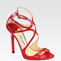 Jimmy Choo - Lance Strappy Patent Leather Sandals