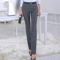 Fashion New Women Work wear Business Office Pants Straight Slim OL Formal Trousers For Female clothings