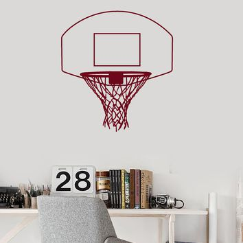Vinyl Wall Decal Basketball Hoop Basket Net Sports Room Decoration Stickers Mural (ig5533)
