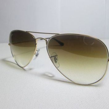 Gotopfashion Ray Ban Large Metal RB3025 001/51 Gold Aviator Frame w/ Gradient Brown