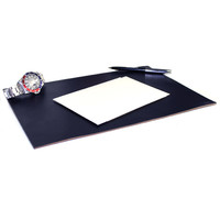 Leather Desk Pad - Navy