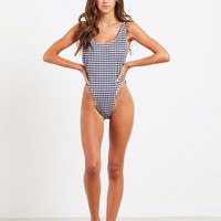 Bo Derek One Piece Swimsuit - Gingham