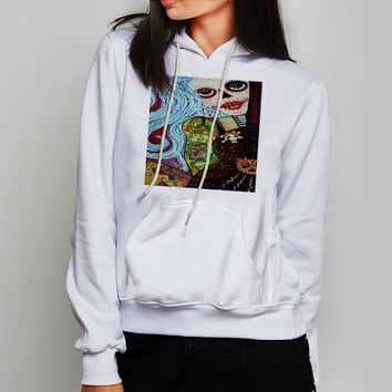 Unisex Hoodie Cool Hippie Tattoo Pin Up Girl Painting