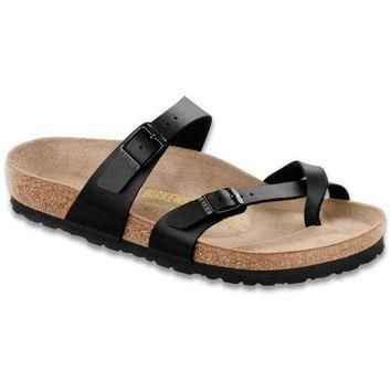 VON7Y1 Beauty Ticks Birkenstock Classic Mayari Regular Fit Birko-flor Black