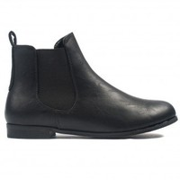 Cheska Classic Chelsea Boot in Black Leather  - Footwear